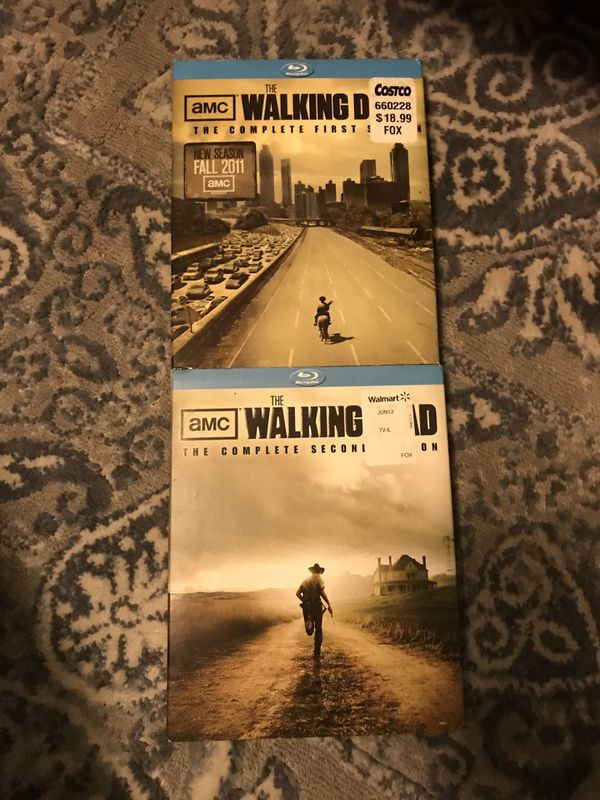 The Walking Dead season 1 and 2 Blu Ray