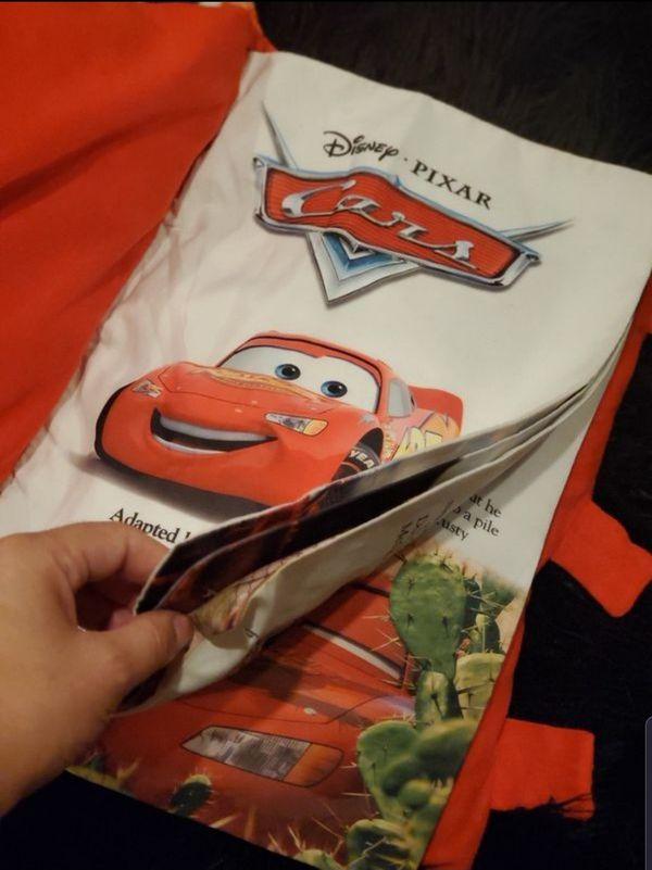 Disney cars blanket, pillow book and big plush