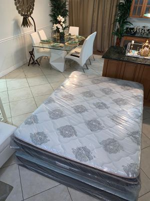 1 DAY SALE! New pillow top mattresses and box springs full 170 queen 180 king 210 (pick up only) for Sale in Hollywood, FL