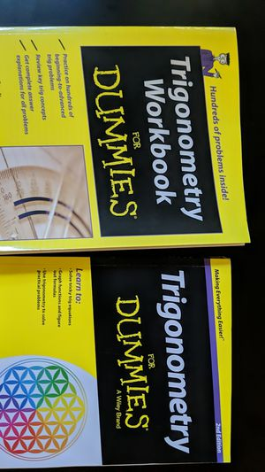 Trigonometry for dummies set for Sale in Cambridge, MA