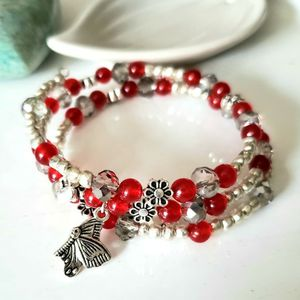 Wrap Bracelet With Red Quartz And Beads for Sale in Laveen Village, AZ