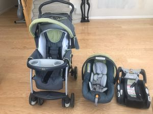 Chicco baby car seat, stroller - complete set for Sale in Antioch, CA