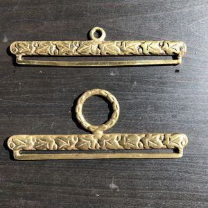 Pair of brass bell pull hangers for a tapestry or needlepoint for Sale in San Mateo, CA