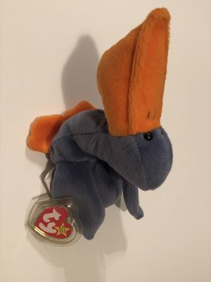Scoop the pelican Beanie Baby RARE with Tag Errors and PVC pellets for Sale in Alpharetta, GA