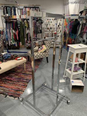 4 Bar Rolling Clothing Rack (2) for Sale in Mansfield, TX