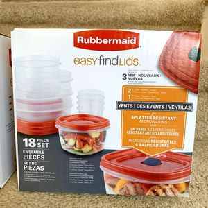 18 piece set Rubbermaid Easy Find Lids NIB! for Sale in Plano, TX