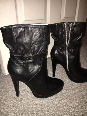 Black leather Kenneth Cole boots size 8, new $65 for Sale in Bowie, MD