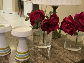 Lot Of Accessories, Candle Holders, Clear Glass Vases - $15 Or Best Offer, Located In Weston for Sale in Fort Lauderdale,  FL