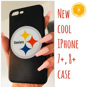 New cool iphone 7+ or iphone 8+ PLUS case rubber hypebeast hype swag STEELERS FOOTBALL men's women's for Sale in San Bernardino, CA