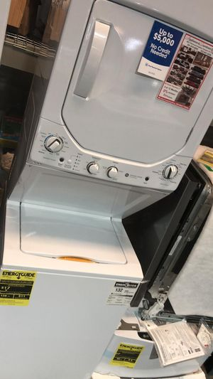 "39$ Down - New GE 24"" Stackable Spacemaker Washer & Dryer for Sale in Houston, TX"