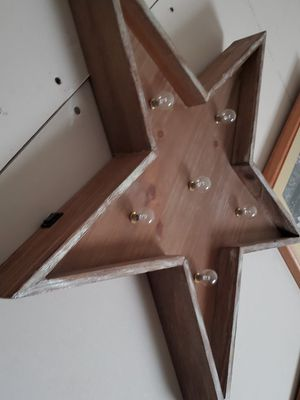 Wood star (lights up) for Sale in Hoquiam, WA
