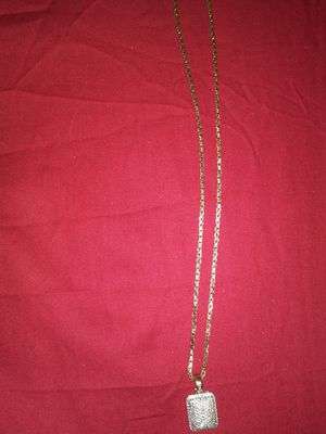 Gold Chain with diamond pendant for Sale in Pittsburgh, PA
