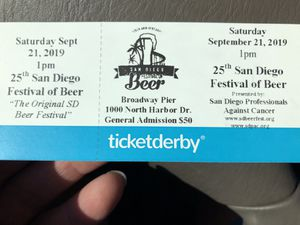 BEER FEST TICKETS! for Sale in San Diego, CA