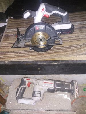 Porter cable saw sawzall battery and charger for Sale in Marion, MI