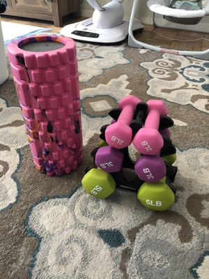 Weight set and foam roller for Sale in Daly City, CA
