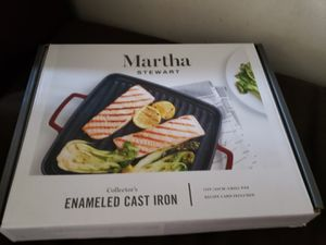 Martha Stewart Collectors Enameled Cast Iron Grill Pan for Sale in Downey, CA