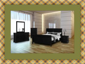 11pc black bedroom set free delivery for Sale in Ashburn, VA