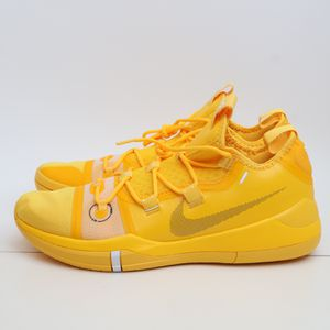 (Available in 12 and 13) Nike Kobe Bryant AD TB Promo Mens Basketball Shoes AT3874-700 Yellow White for Sale in Grapevine, TX