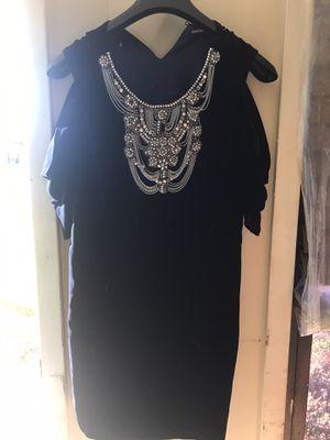 Beaded neck piece/ velvet blue dress for Sale in DONALDSONVLLE, LA