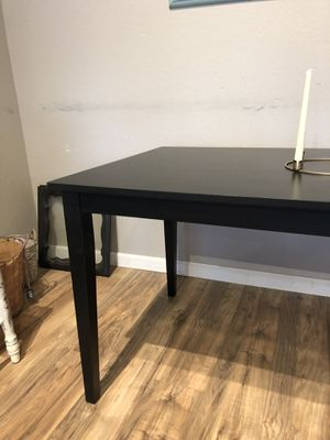 Satin black dining kitchen table for Sale in San Diego, CA