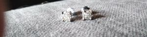 Diamond chips studs in .925 silver for Sale in Nederland, TX