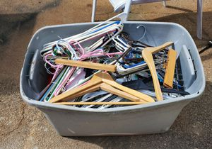 Tote full of clothes hangers for Sale in McDonough, GA