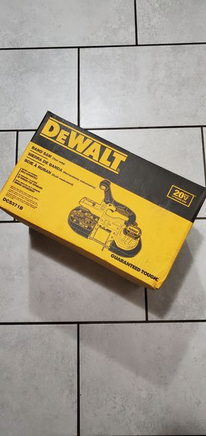 DEWALT 20 VT MAX BAND SAW NEW TOOL ONLY NO BATTERIE for Sale in Long Beach, CA