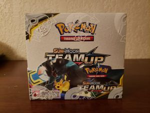 Pokemon team up booster box for Sale in Manteca, CA