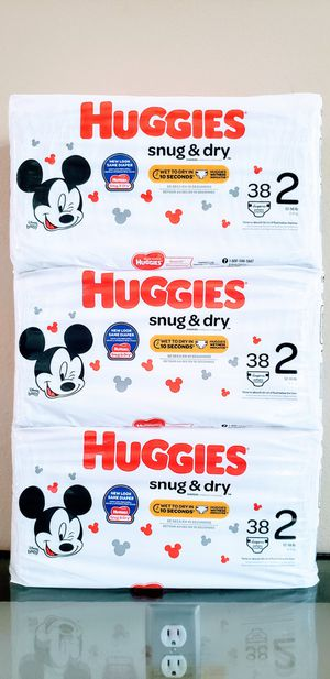 Huggies Snug & Dry Size 2 (Total 114 Diapers) - $16 For All FIRM for Sale in Tustin, CA