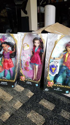NIB Disney - Decendants FREDDIE (Isle of the Lost), Jay (Isle of the Lost) and Lonnie (Auradon Prep) for Sale in Lake Hallie, WI