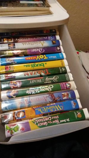I've got my whole VHS collection black diamond and Disney's original classics mainly for Sale in Humble, TX