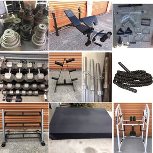 Rubber Gym Mats, Dumbbells, Olympic Weight Plates, Barbells, Curl Bars, Tricep Ropes, Squat Racks for Sale in Davenport, FL