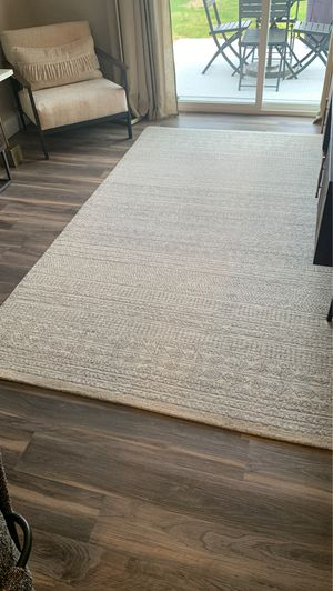 Surya Wool rug with pad (grey taupe) 6x9 rug (brand new) for Sale in Waterville, OH