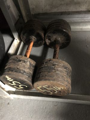 55 lb homemade dumbbells for Sale in Pittsburgh, PA