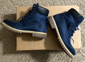 Timberland men boots 10 size navy camouflage for Sale in Des Plaines, IL