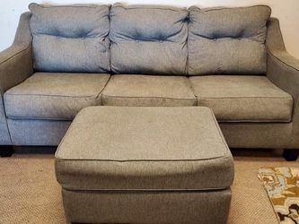Grey Modern Couch With Ottoman for Sale in Denver,  CO