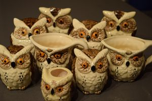 Vintage Owl set for table/decor for Sale in Rosemont, IL