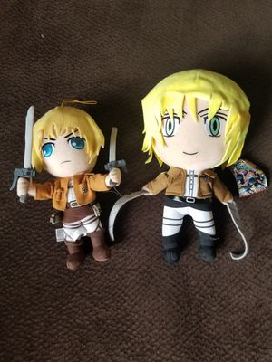 2 Attack on Titan Anime Armin Plushies for Sale in Gilbert, AZ