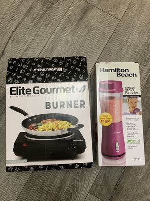Electric gourmet burner & single serve blender with travel lid for Sale in Bellflower, CA