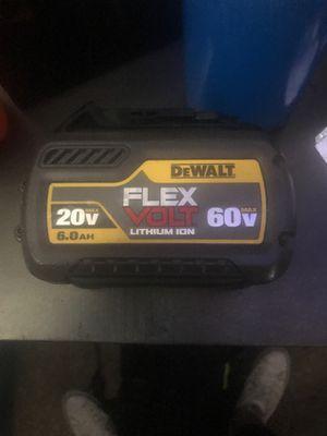 60v Flex Volt Dewalt battery for Sale in Cheyenne, WY