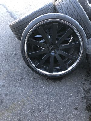 24 inch concave gianelle rims and tires for Sale in Tampa, FL
