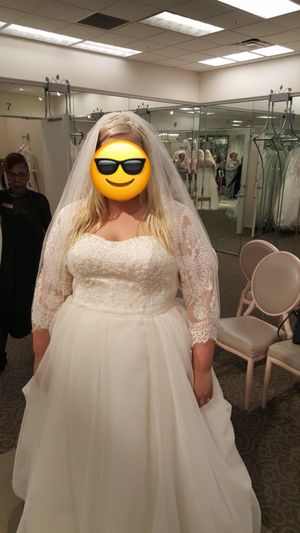 Oleg Cassini Plus-Size Bridal Gown (never used) for Sale in Purcellville, VA