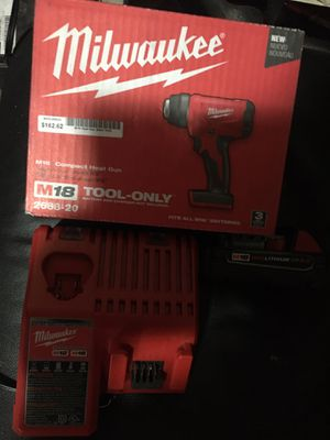 Milwaukee m18 cordless heat gun with battery and charger new for Sale in Westminster, CO