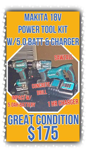 Makita 18v Cordless Power Tools w/5.0ah Battery & Charger for Sale in Lakewood, WA