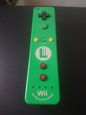 Official Luigi Wii Motion Plus Controller RVL-036 for Sale in West Springfield, MA