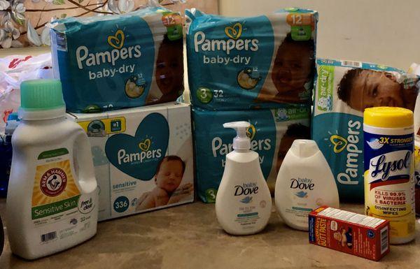 Loaded Pampers & Dove Newborn Bundle
