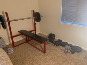 Olympic Bench, Bars, Dumbbells, Weights for Sale in Aurora, CO