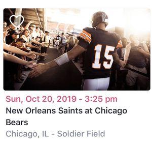Bears vs Saints (10/20) for Sale in Buffalo Grove, IL