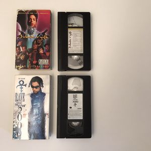 Prince movies vhs music video tapes rave year 2000 3 chains o gold for Sale in Burtonsville, MD