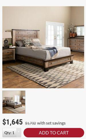 Jerome's Haven reclaimed wood Queen bedroom set, bedframe & dresser retail $1450 for Sale in San Diego, CA